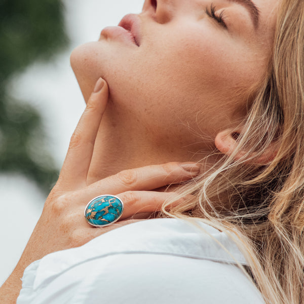 Nomi Blue Copper Turquoise Ring