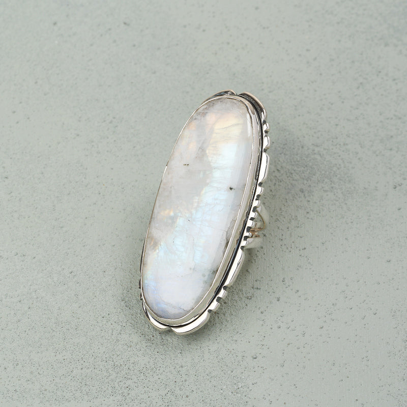 Ghita Moonstone Ring | US 7.5 (UK P)