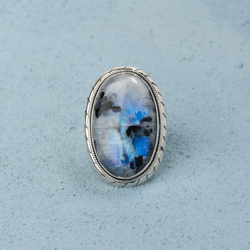 Dione Moonstone Ring | US 7 (UK O)
