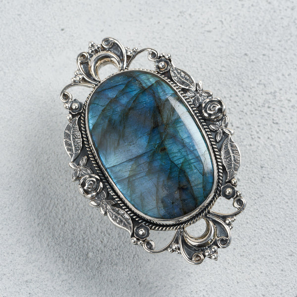 Isabella Labradorite Ring | US 7.5 (UK P)