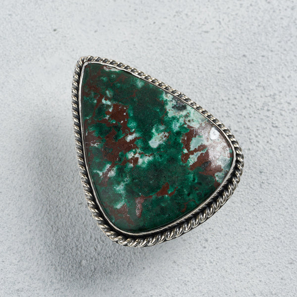 Mira Chrysocolla Ring | US 7.5 (UK P)