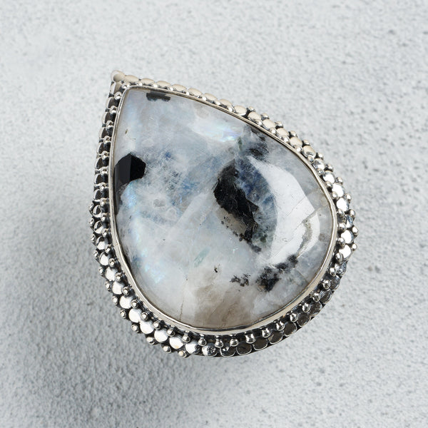 Elayne Moonstone Ring | US 8 (UK Q)