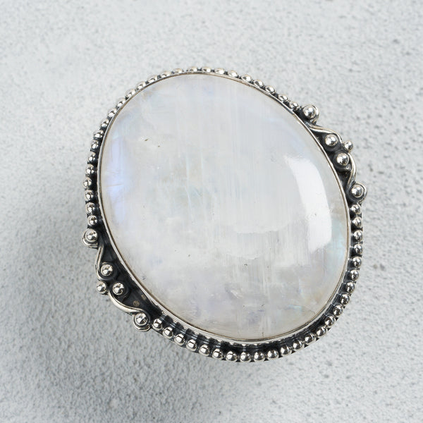 Margarete Moonstone Ring | US 8 (UK Q)
