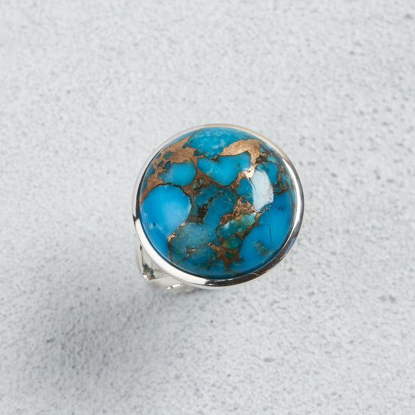 Alina Blue Copper Turquoise Ring