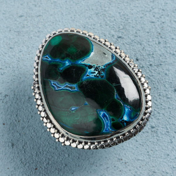 Salma Azurite Malachite Ring | US 8 (UK Q)