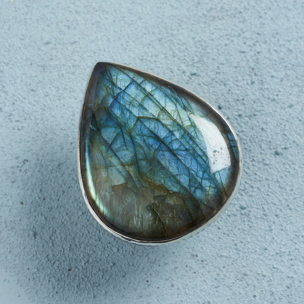 Sofia Labradorite Ring | US 9 (UK S)
