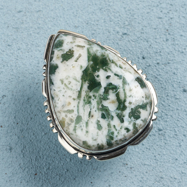 Maia Tree Agate Ring | US 7 (UK O)