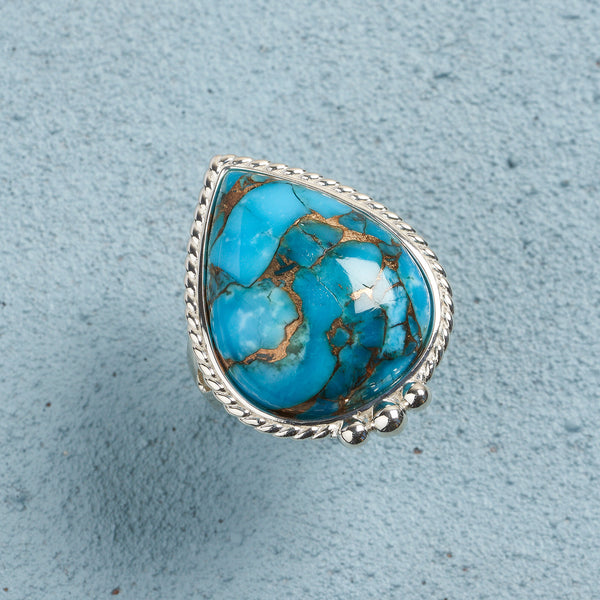Cora Blue Copper Turquoise Ring