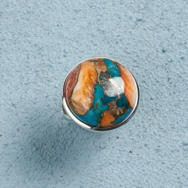 Alina Spiny Oyster Turquoise Ring