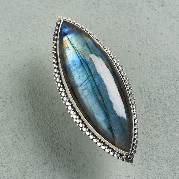 Isadora Labradorite Ring | US 7.5 (UK P)