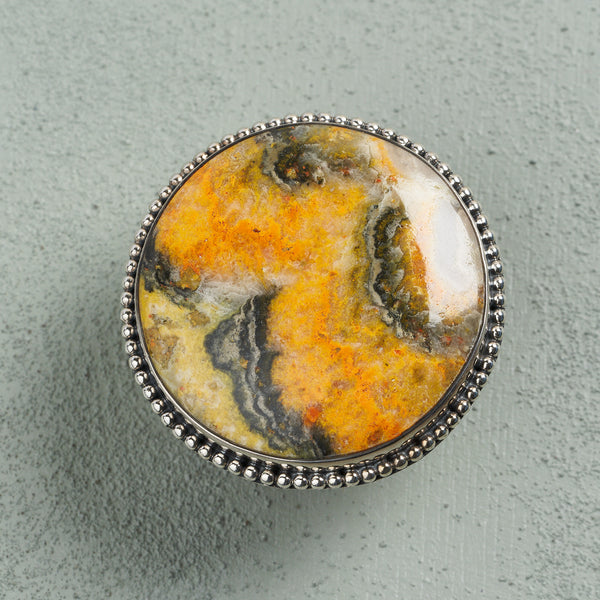 Cressida Blumblebee Jasper Ring | US 7 (UK O)