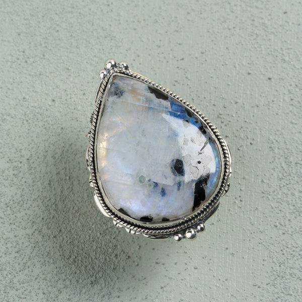 Odette Moonstone Ring | US 7 (UK O)