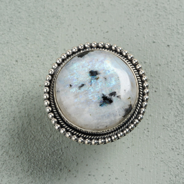 Mirabella Spotted Moonstone Ring | US 7 (UK O)