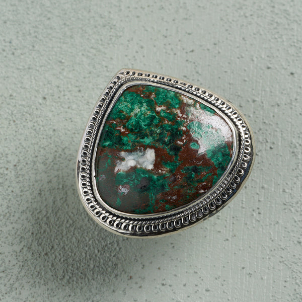 Terra Chrysocolla Ring | US 8.5 (UK R)