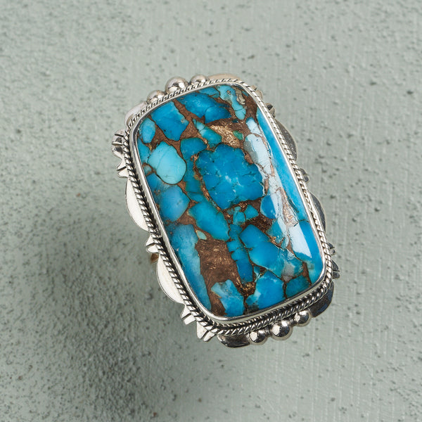 Ava Turquoise Ring | US 8 (UK Q)