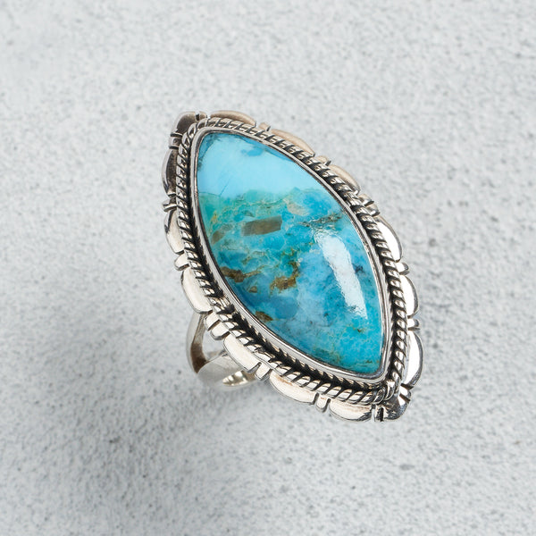 Belle Turquoise Ring | US 8 (UK Q)