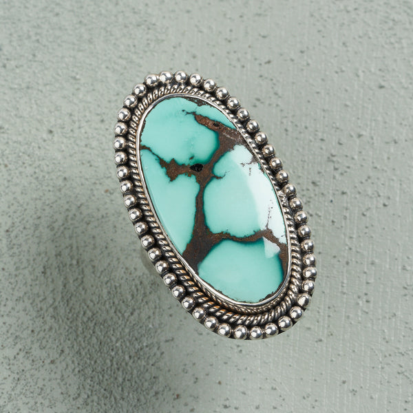 Clara Turquoise Ring | US 8 (UK Q)