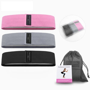 Fabric Booty Bands - 3 Pcs Resistance Loop Bands