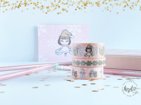 Gingerbread Spice Gold Foil Washi Tape Collection