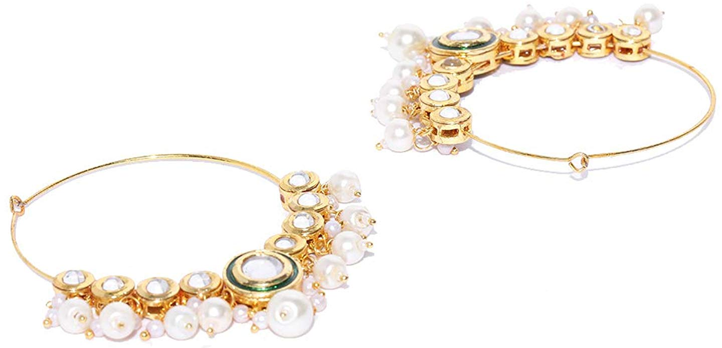 Fashion Empire | Punjabi Ethnic Gold Plated W Colorful Pearls Jhumki Earring - FashionEmpire