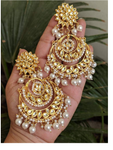 Indian Ethnic High Quality Gold Tone Kundan earrings - FashionEmpire'86