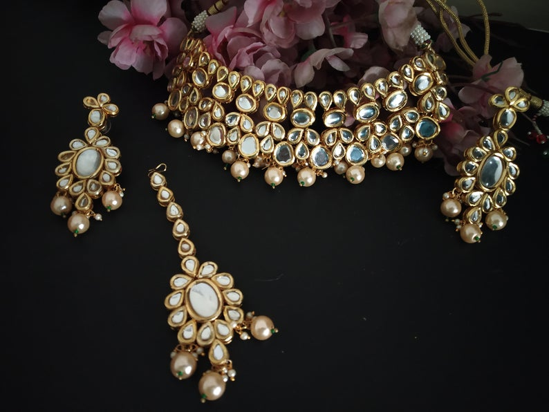 High Quality Designer Choker Kundan Indian Jewelry