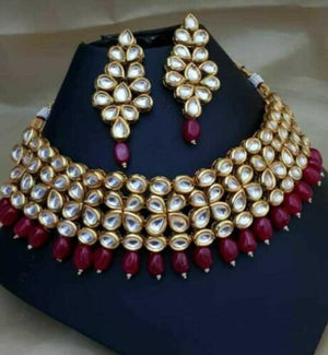 High Quality Kundan Choker Necklace Set Traditional Indian Wedding