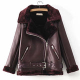Korean Styled Fur Thick Velvet Warm Winter Jacket For Ladies - FashionEmpire'86