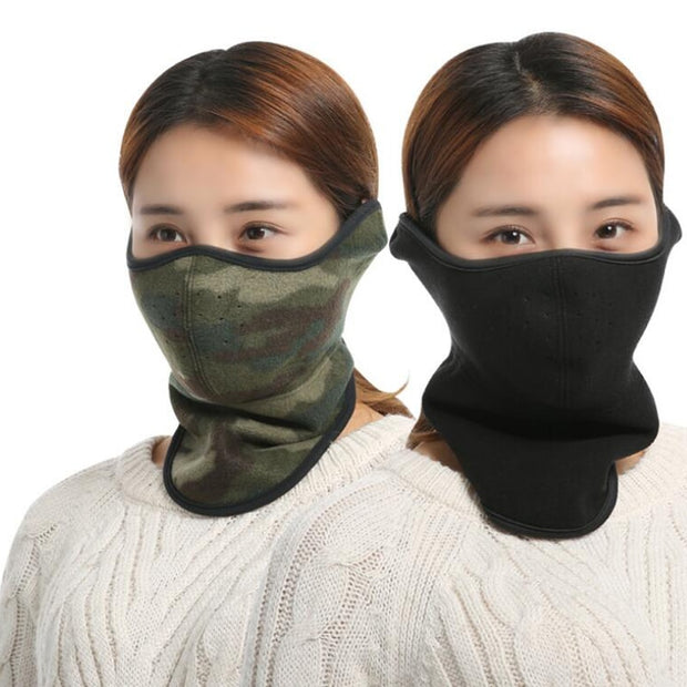 One only 1pc Winter Warm Cycling Riding Mask Mouth, Nose, Ear Neck Protector Warmer Outdoor Cold Production Man Woman Office School