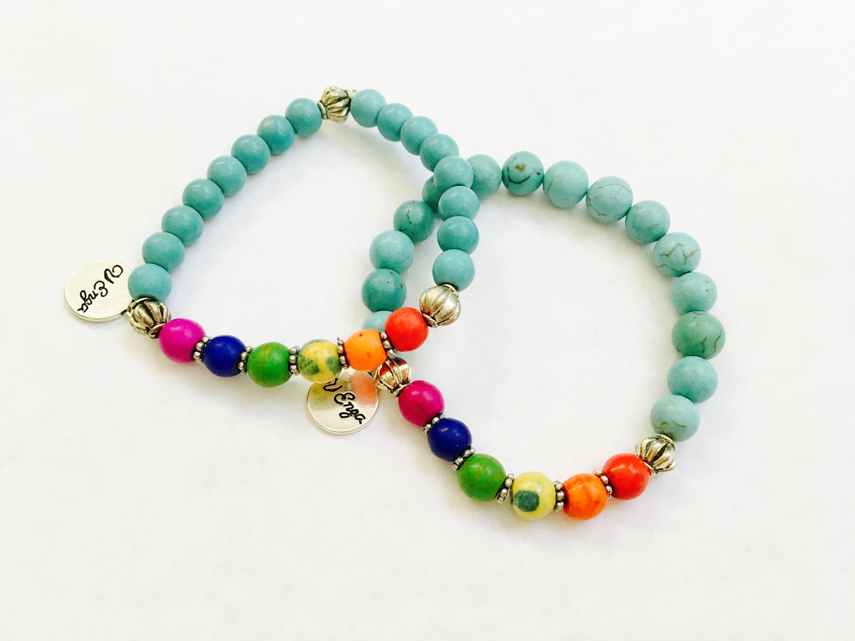 Children's Rainbow bracelet