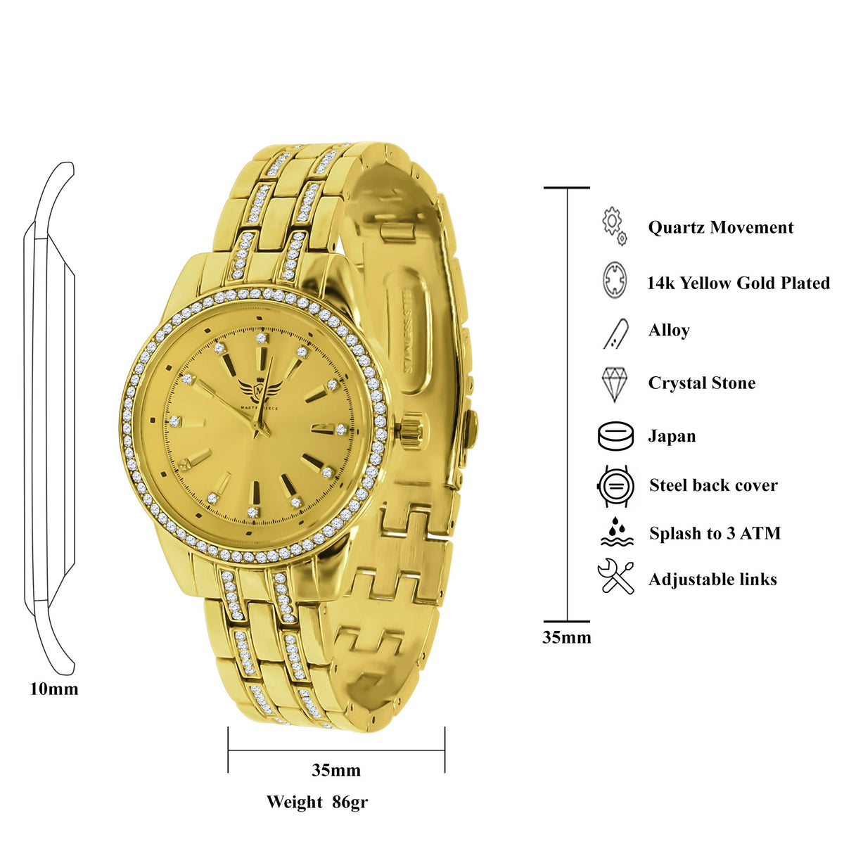 EXQUISITE Women Bling Metal Watch | 562542