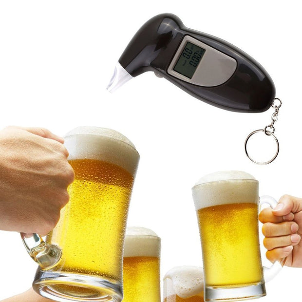 Alcohol Breath Tester Breathalyzer Analyzer Detector Test Keychain Breathalizer Breathalyser DeviceLCD