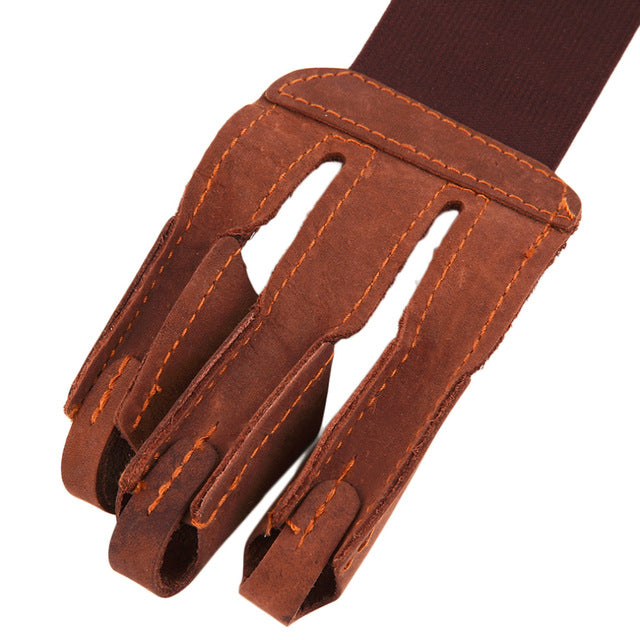 Archery Protect Glove 3 Fingers Pull Bow arrow