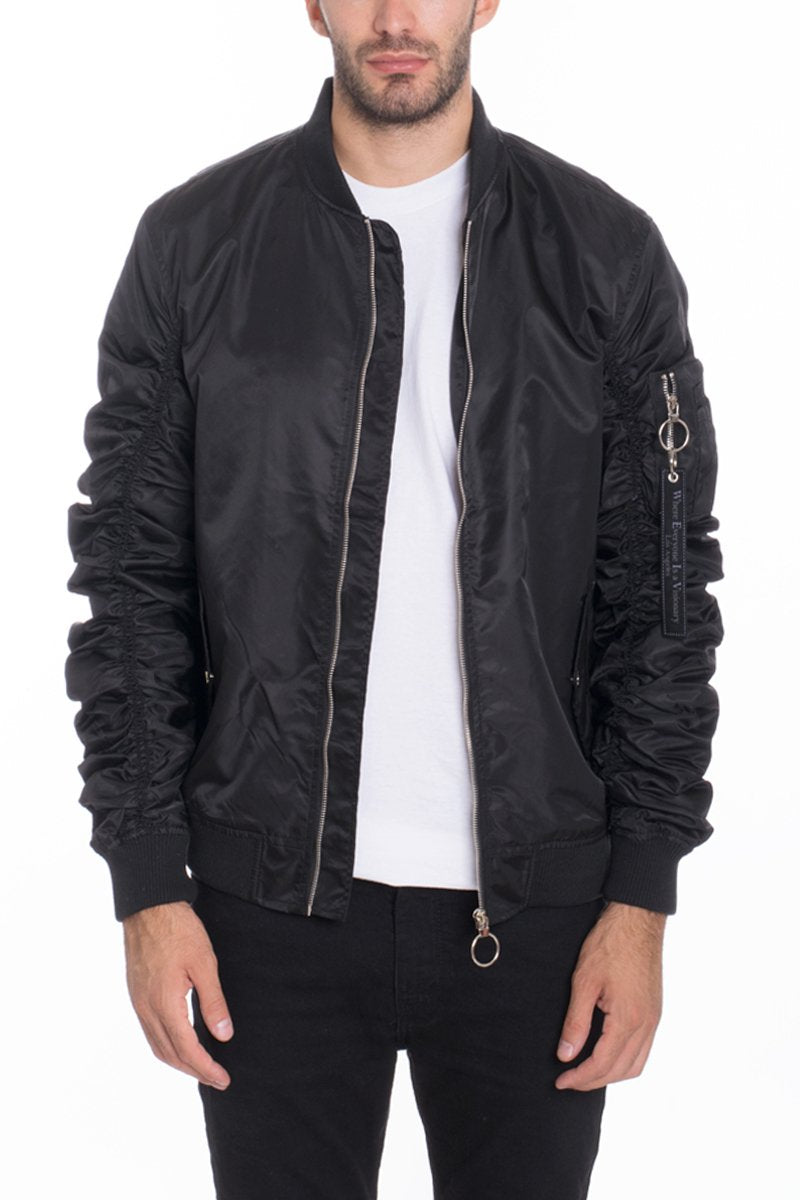 FLIGHT LINED BOMBER- BLACK