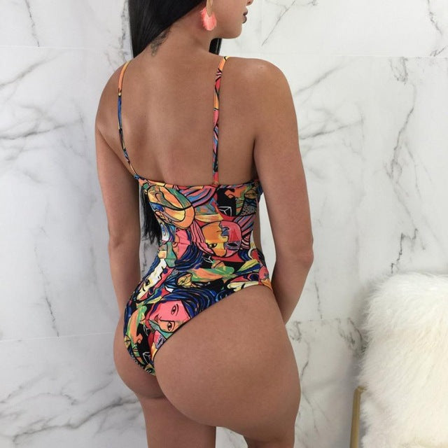 Fancinating Womens Swimwears Letter Printed