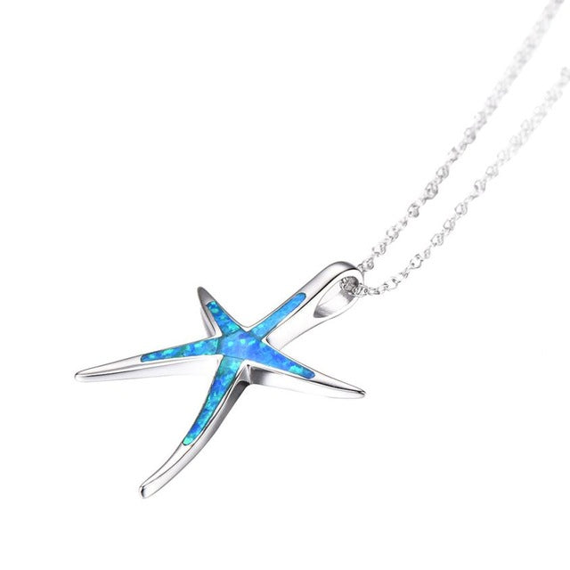 Magnificent Women Necklaces Silver Charm Star Fish