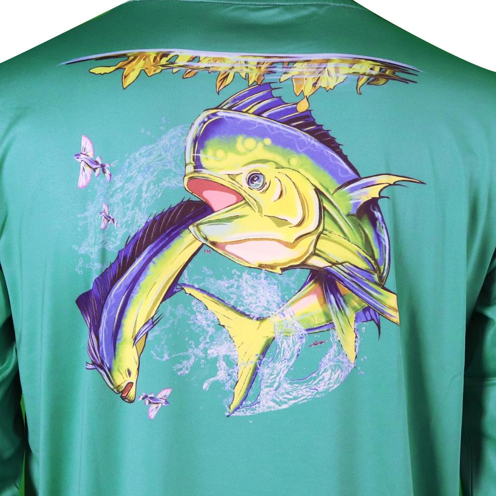 50 UV Mahi Madness Performance Fishing Shirt