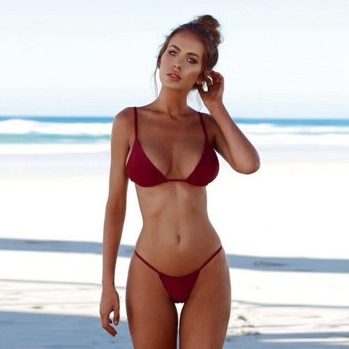 NEW Women Swimwear Bandage Bikini Set Push-up