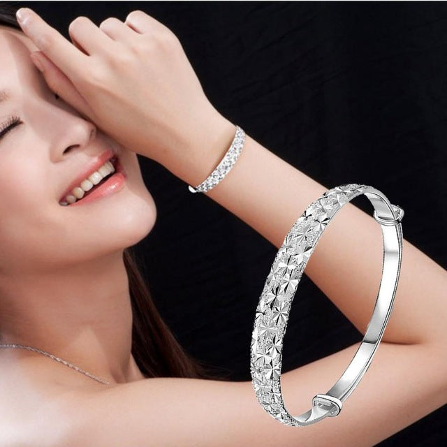 New Fashion Jewelry Silver Womens Bracelets Charm