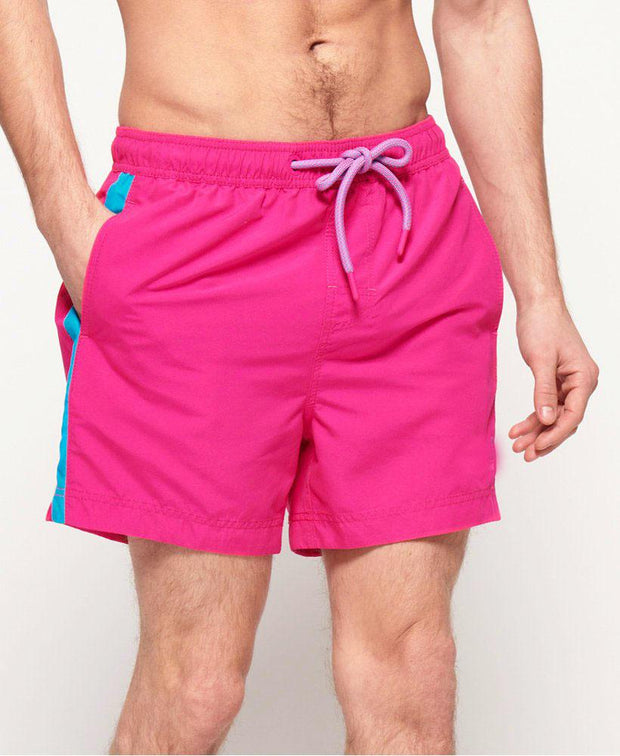 Pink Stripe Swim Shorts