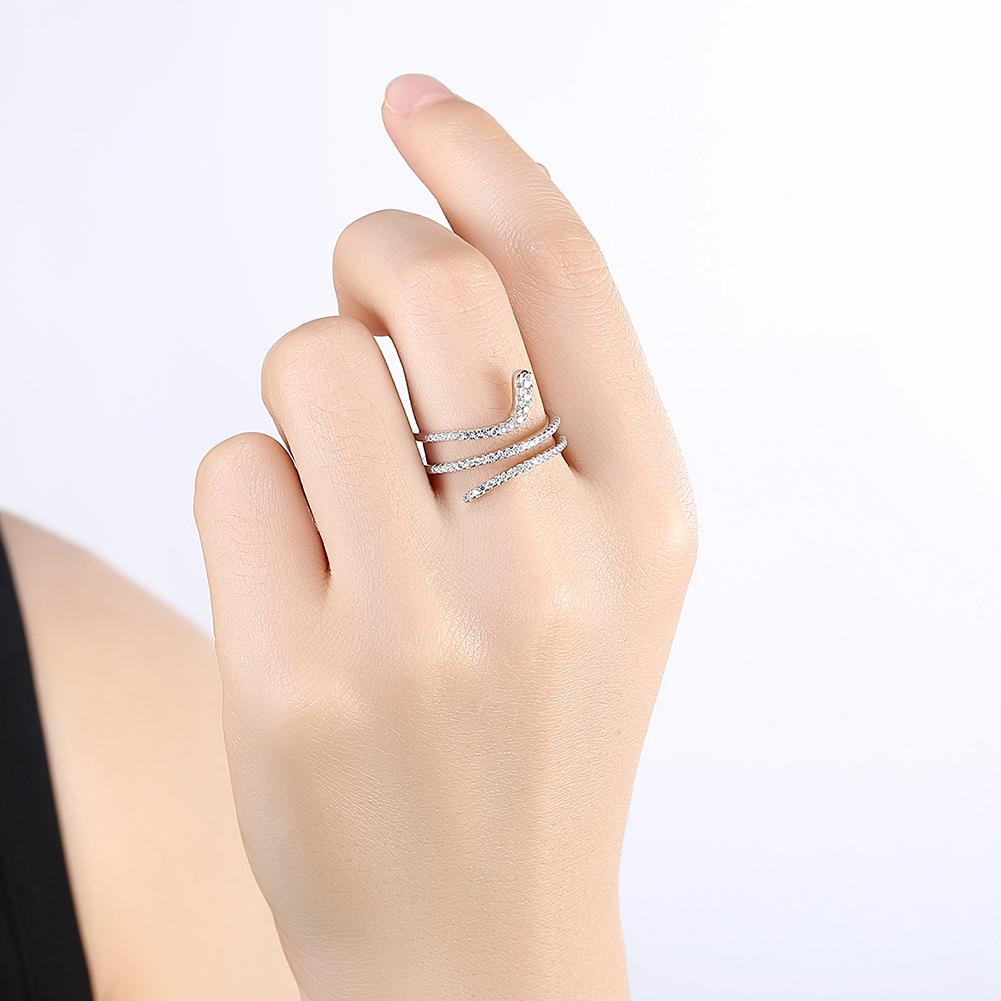 Wrap Around Sterling Silver Adjustable Ring