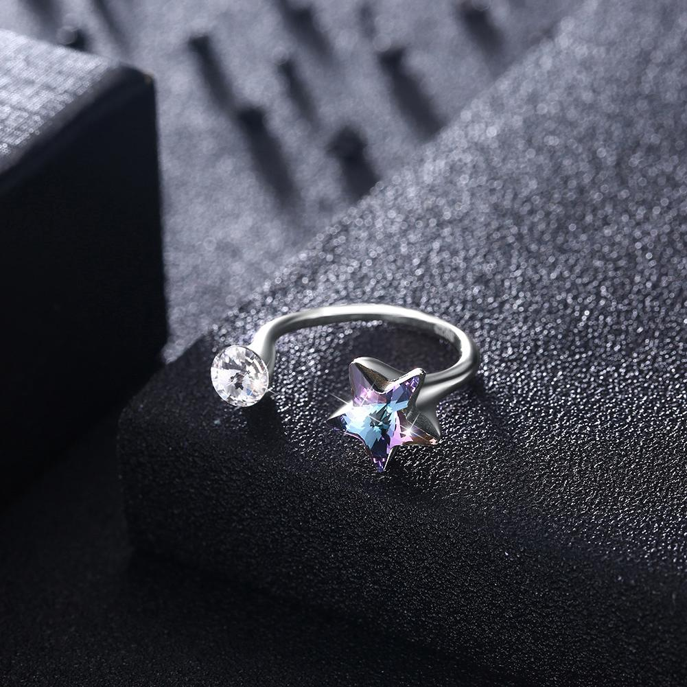 Star Sterling Silver Adjustable Ring