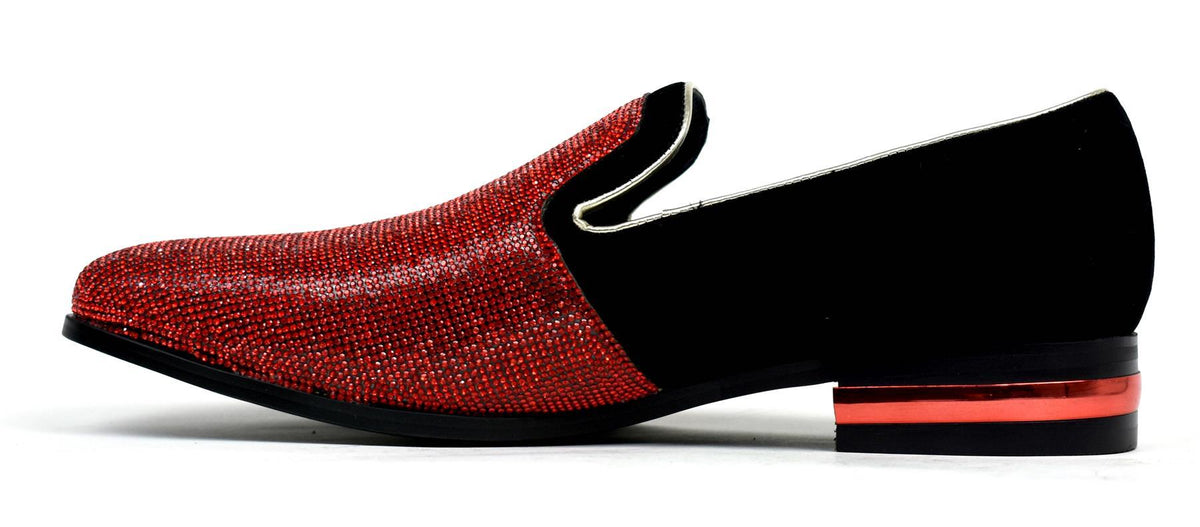 Men's Sparkling Glitter Party Shoes Red