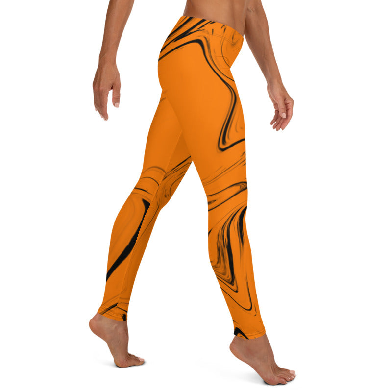 Liquid Orange Leggings, Capris and Shorts