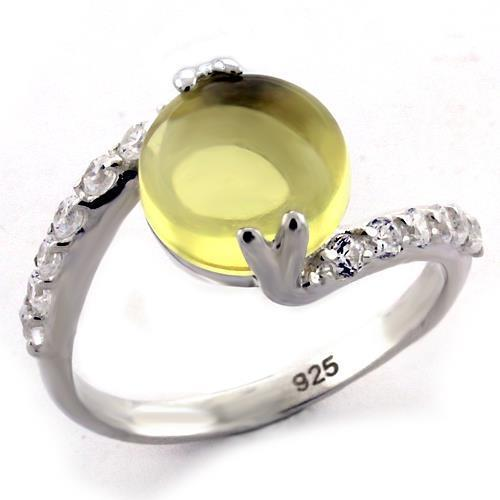 LOAS1123 High-Polished 925 Sterling Silver Ring