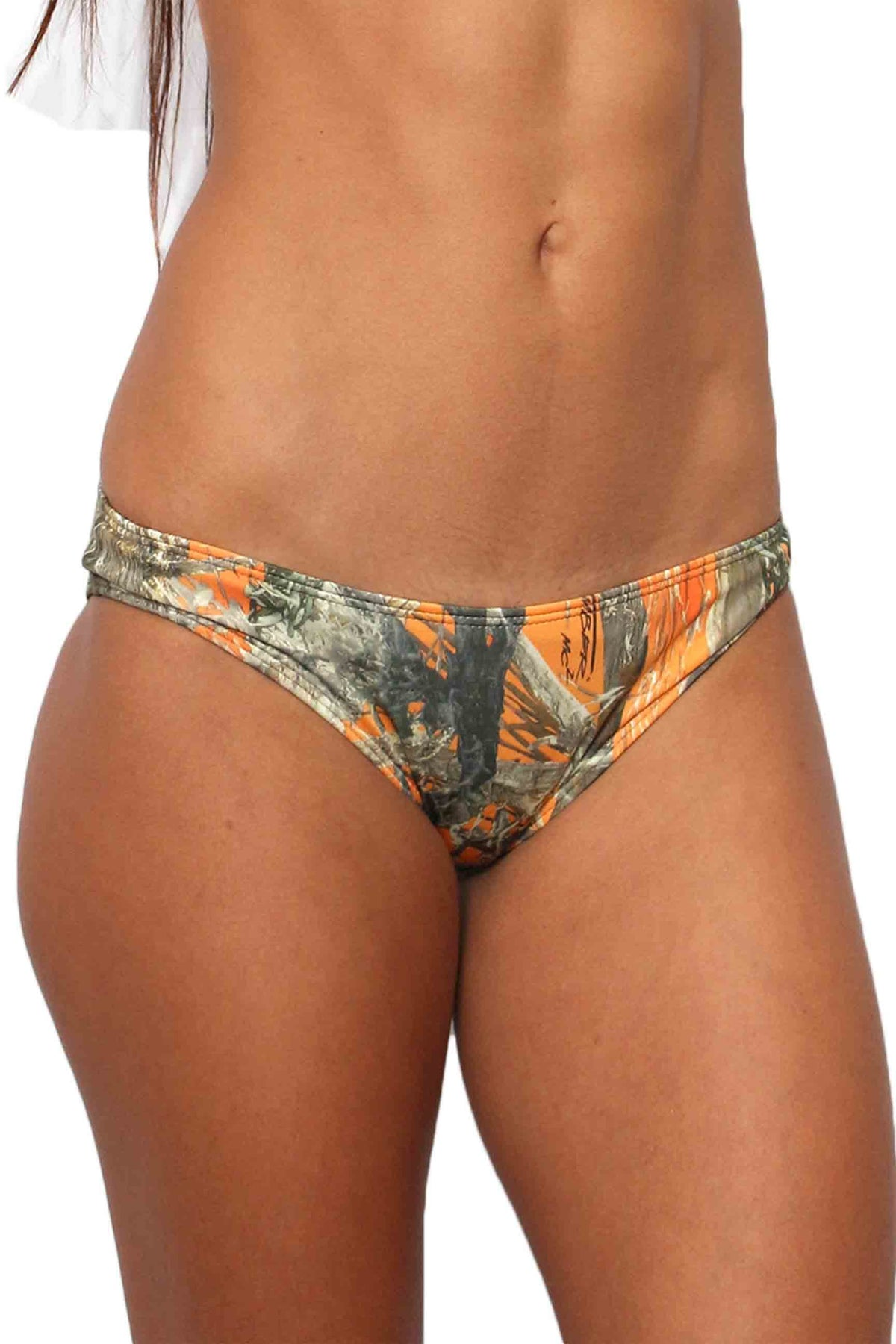 Women's Orange True Timber Basic B Only Bikini