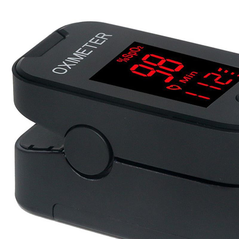 Black Oximeter LED Blue/Red