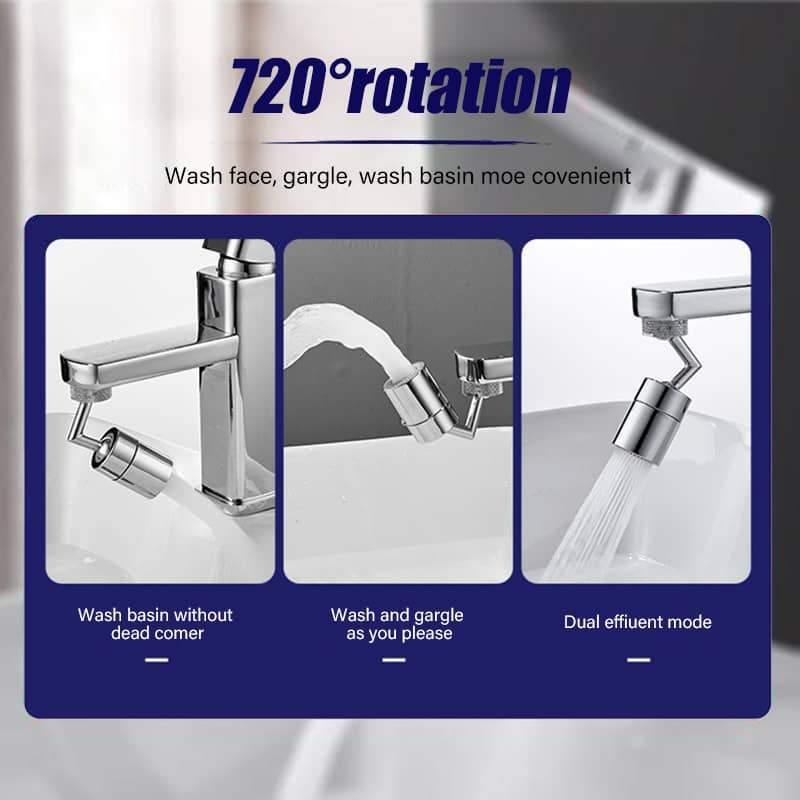 720Splash - Rotating Universal Non-Splashing Faucet Filter