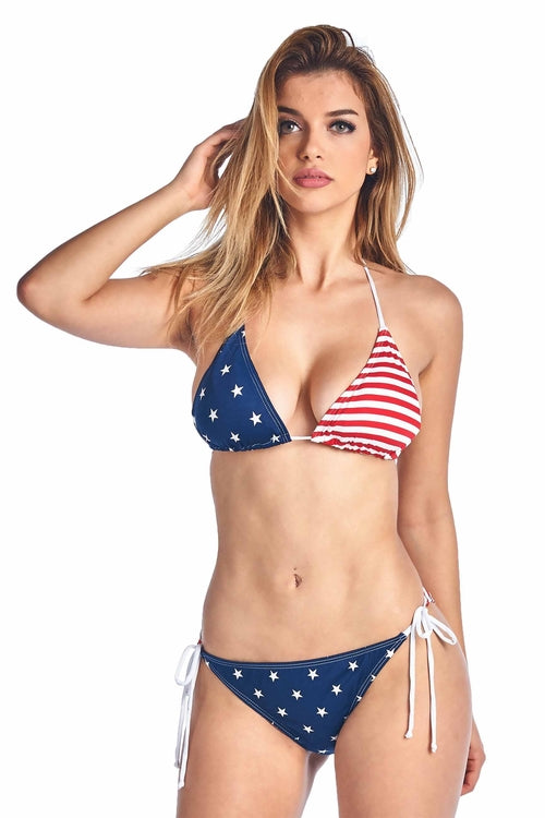 USA Flag Triangle Top Basic