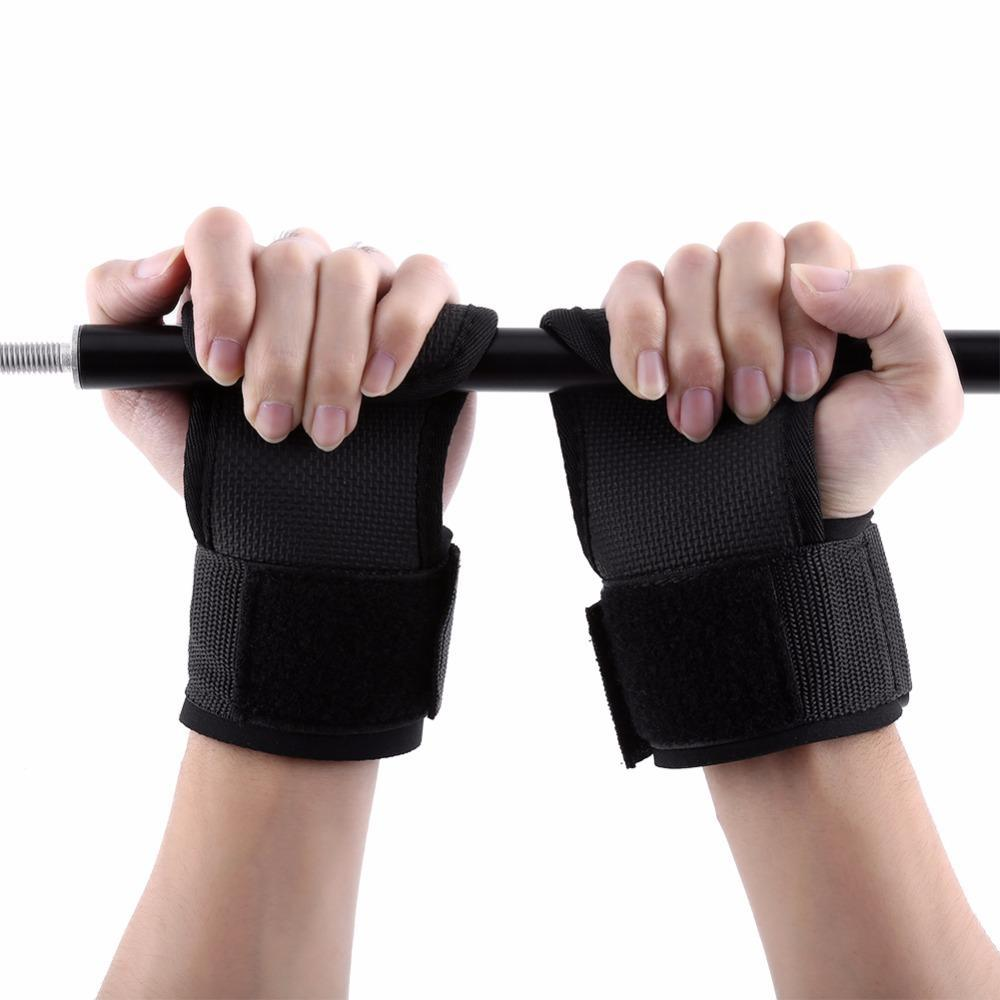 Weight Lifting Gym Hand Grips Palm Padded Gloves
